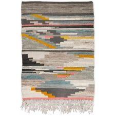 Tapis structure en laine fait à la main multi 190×290