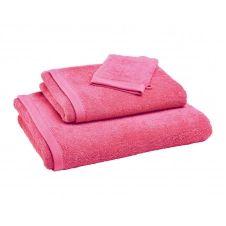 Drap de bain rose framboise 70×140 en coton bio
