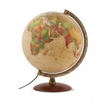 ANTIQUUS – Globe terrestre, antique, lumineux, textes en français