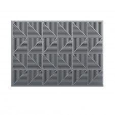 Tableau d'affichage magnétique et à punaises, en métal gris.