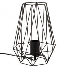 Lampe en métal filaire noir
