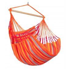 Chaise-hamac comfort en tissu orange