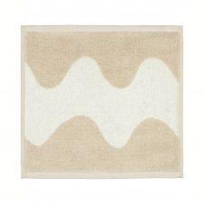 Serviette Lokki beige-blanc 30×30 cm