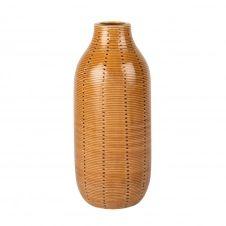 Vase en porcelaine ocre H27