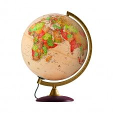COLOMBO 30 – Globe terrestre, antique, lumineux, textes en français