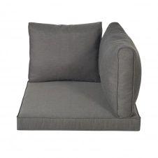 Coussins pour angle de canapé de jardin gris foncé Isola