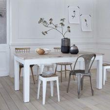 Table en bois d'acajou et teck 180 LONDRES