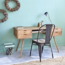 Bureau en bois de teck 4 tiroirs