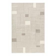 Tapis graphique gris/beige ras pour salon, chambre 225×160