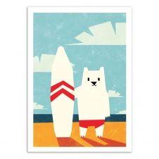 SURF –  Affiche d'art 50 x 70 cm