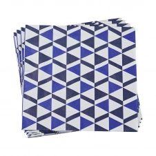 Serviette en papier indigo 40 x 40