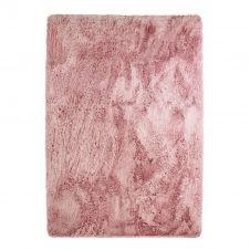 Tapis à poils longs extra-doux rose 225×340