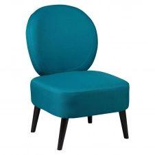 Fauteuil Crapaud Tissu Coloris Bleu Canard
