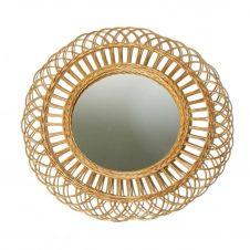 Miroir rotin naturel rond D60