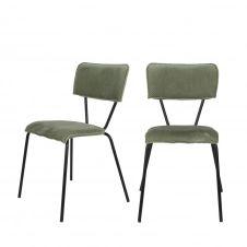 2 chaises vert