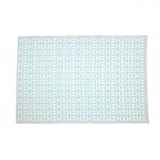 Tapis extérieur et intérieur bleu clair et blanc bleu 270×180