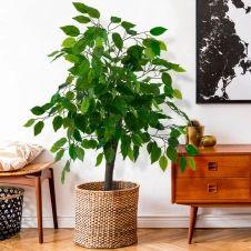 Ficus artificiel Hauteur 90 cm plante avec pot