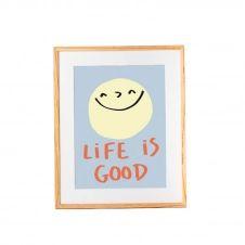 Affiche en papier recyclé Life is good 42×30