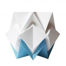 Lampe de table origami bicolore en papier taille S
