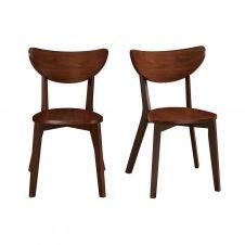 Chaises design noyer (lot de 2) LEENA