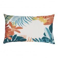 Coussin d'extérieur imprimé tropical multicolore 30×50