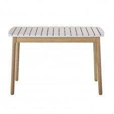 Table de jardin enfant en acacia massif gris clair L80
