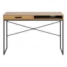Bureau avec tiroir et rangement en métal et bois TRESCA