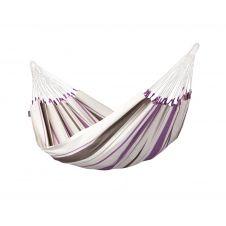 Hamac classique simple en coton violet et écru