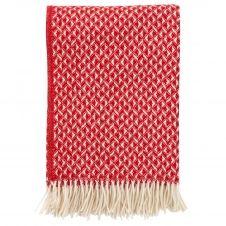 Plaid en laine Anna 130×200 cm Rouge