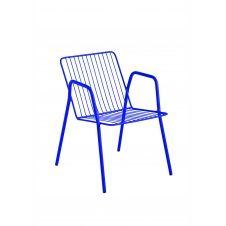 Chaise en acier bleu