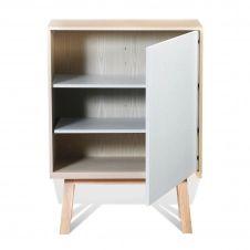 Armoire 1 porte en bois blanc balisson