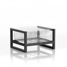 Table basse pvc transparente cadre en aluminium