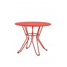 CAPRI – Table basse en acier rouge D60