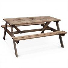 Table de pique nique rectangulaire avec banc 6 places