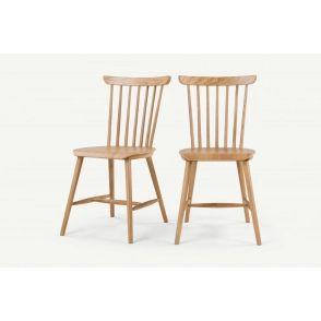 Lot de 2 chaises, chêne