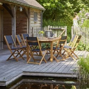 Salon de jardin extensible en bois d'acacia 8/10 places hanoÏ