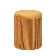 Pouf avec Coffre de Rangement Orange
