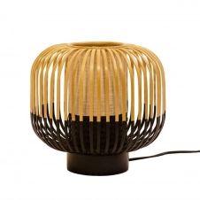 Lampe à poser bambou/noir H24cm