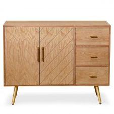 Buffet 2 portes et 3 tiroirs en bois
