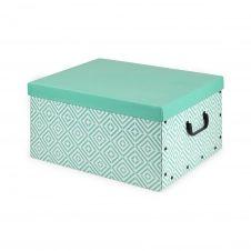 Boîte en carton vert 50x40cm
