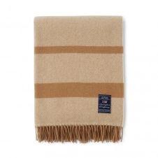 Plaid en laine Herringbone 130×170 cm Beige