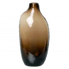 Vase Dame-Jeanne en verre teinté ambre H20