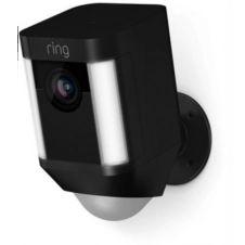 Caméra de sécurité Ring Caméra Spotlight noire sur batterie
