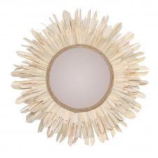Miroir rond ∅ 90 cm en matière naturelle