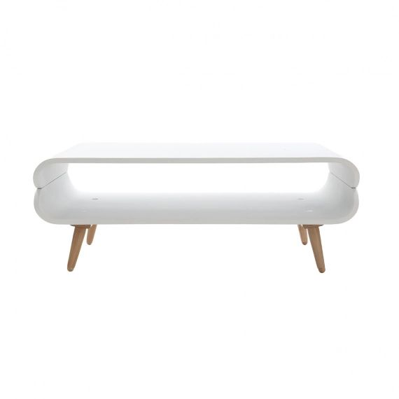 Table basse design frêne blanc TAKLA