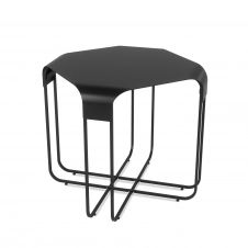 Table d'appoint noire en métal 52x51cm