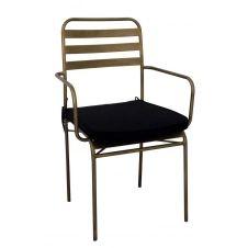 Chaise design de repas bronze