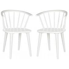 Chaise de table en hévéa blanc (x2)