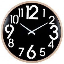 Horloge en métal ajouré noir D60
