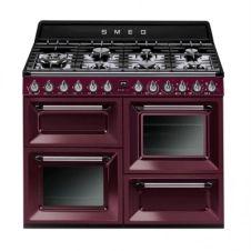 piano de cuisson SMEG TR4110RW1 7 foyers Bordeaux